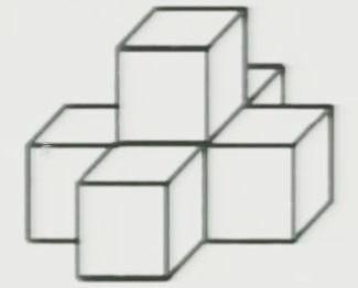 1,看下面的图形是由几个小正方体拼起来的?